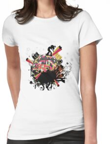 world on my tee t-shirt Womens Fitted T-Shirt