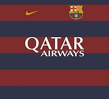FC Barcelona Home Kit Print by seeaykay