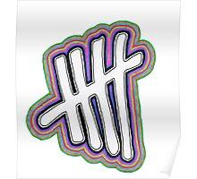 5SOS Stripes Logo - 5SOS Poster