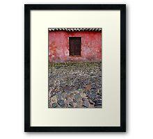 Old window in Colonia del Sacramento, Uruguay Framed Print