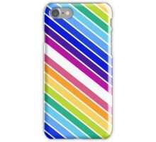 At the End of The Rainbow Stripes iPhone Case/Skin