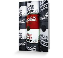 Soup - Andy Warhol Tribute Greeting Card