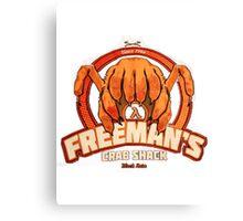 Freeman's Crab Shack Design Canvas Print