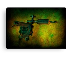 Tattoo Gun Canvas Print