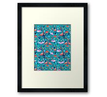 beautiful pattern lovers flamingo Framed Print