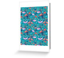 beautiful pattern lovers flamingo Greeting Card