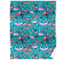 beautiful pattern lovers flamingo Poster