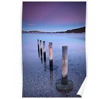 Winter Dusk - Cornelian Bay, Hobart, Tasmania Poster