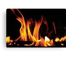 Winter fireplace Canvas Print