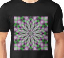 Rosette in Purple, Green and Black Unisex T-Shirt