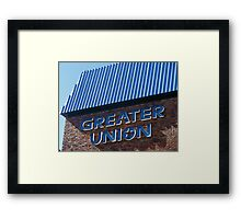 Blue Movies? Framed Print
