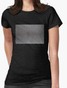 Silver cellular background Womens Fitted T-Shirt