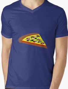 Fun Pizzas Design Mens V-Neck T-Shirt