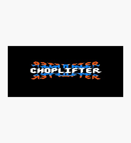 Choplifter - 80's video games Photographic Print