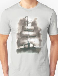 Sailing in the storm Unisex T-Shirt