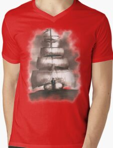 Sailing in the storm Mens V-Neck T-Shirt