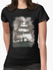 Sailing in the storm Womens Fitted T-Shirt