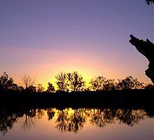 Mirror image - sunset reflected by Helen Vercoe