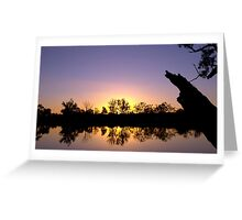 Mirror image - sunset reflected Greeting Card