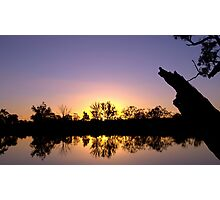 Mirror image - sunset reflected Photographic Print