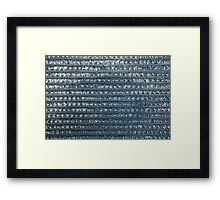 Seamless Metallic Background  Framed Print
