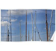 Yacht masts in a summer sky Poster