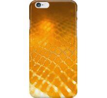 Golden alligator patterned background iPhone Case/Skin