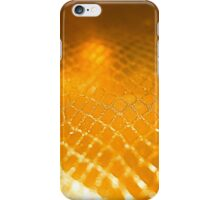 Golden alligator patterned background iPhone Case/Skin