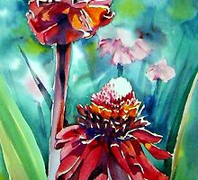 Hawaiian Torch Ginger by Norman Kelley