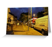 Night street Greeting Card