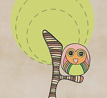 Owl in a tree by Pip Gerard