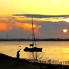 Sailing into the sunset by Jacker