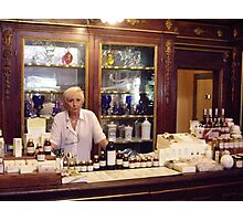 Old Apothecary in Florence Photographic Print