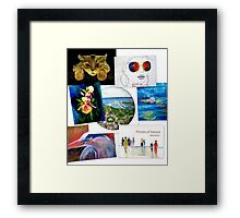 collage of artwork Framed Print