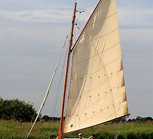 Thurne Sailing by Norfolkimages