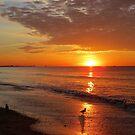 Sunrise summer morning on ocean by Jacker