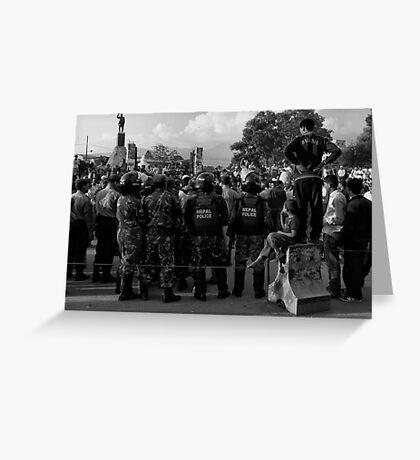 Demonstration, Ratna Park, Kathmandu Greeting Card