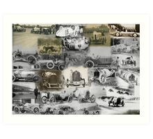 The early days of car racing Art Print