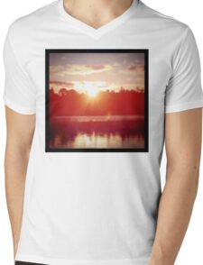 Beautiful Sunset in Canada Mens V-Neck T-Shirt