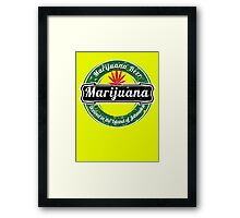 MARIJUANA BEER  Framed Print