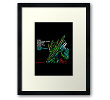 Rex - 80's video games Framed Print