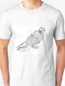 Realistic Pencil Pigeon Drawing T-Shirt