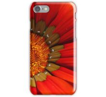 Macro capture of Orange Zinnia flower iPhone Case/Skin
