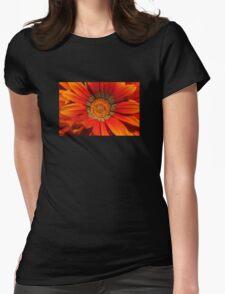 Macro capture of Orange Zinnia flower Womens Fitted T-Shirt