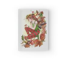 Autumn fall faerie fairy with robin Hardcover Journal