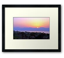 rising sun on Jordan Framed Print