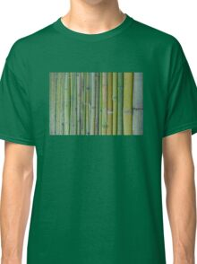 Green bamboo fence background Classic T-Shirt
