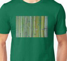 Green bamboo fence background Unisex T-Shirt