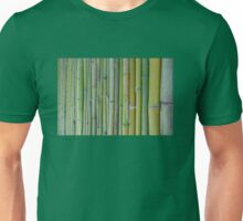 Green bamboo fence background Unisex T-Shirt