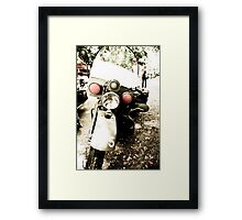 Rare Army Issue Motorcycle Framed Print